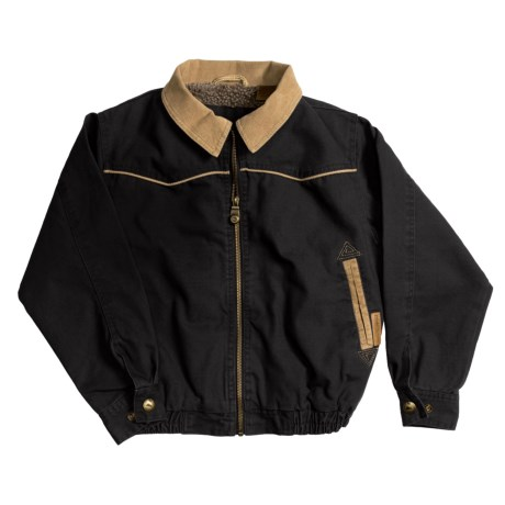 Powder River Abilene Canvas Jacket - Berber Lining (For Boys)