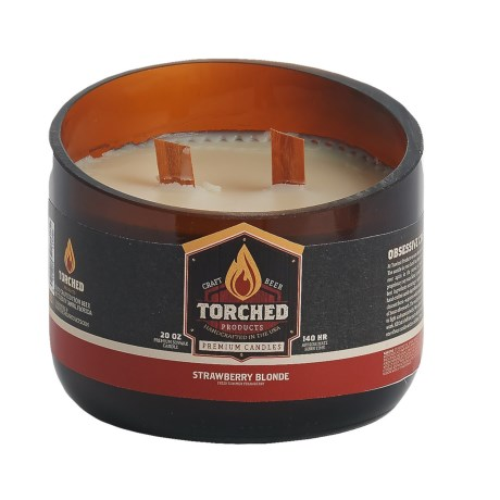 Torched Strawberry Blonde Growler Soy Candle - 2-Wick, 20 oz.