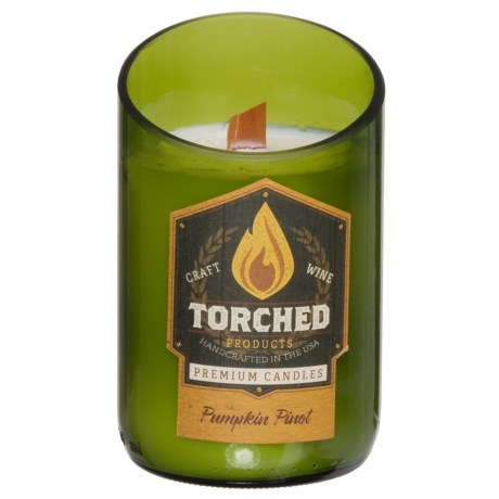 Torched Pumpkin Pinot Wine Bottle Candle - 12 oz.
