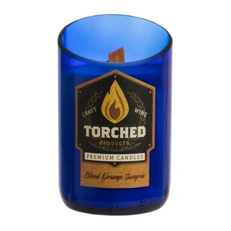 Torched Blood Orange Sangria Wine Bottle Soy Candle - 12 oz.