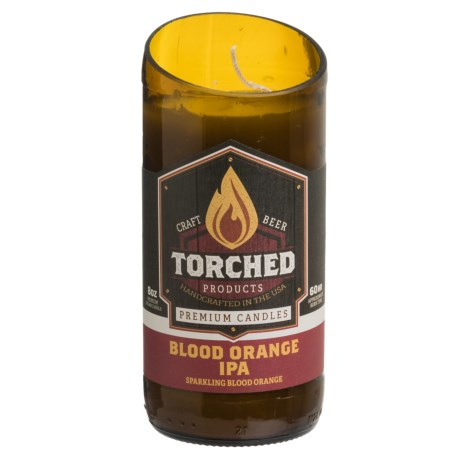 Torched Blood Orange IPA Beer Bottle Soy Candle - 8 oz.
