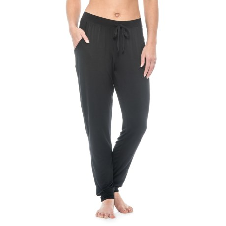 Max Studio Solid Joggers - Stretch Rayon (For Women)