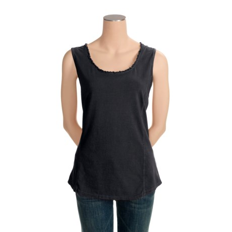 Pulp Stretch Jersey Tank Top - Ruffle Trim (For Women)