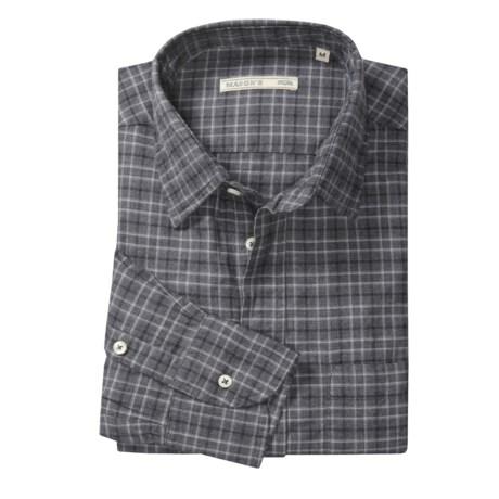 Mason's Cotton Plaid Sport Shirt - Long Sleeve (For Men)