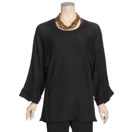 Linea Blu Wool Sweater - Fully Fashioned, Cuffed Bracelet Sleeve (For Women)