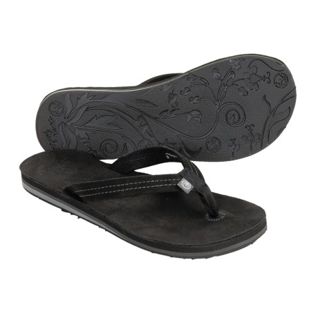 Ocean Minded Moka Sandals - Nubuck-Recycled Materials, Flip-Flops (For Women)