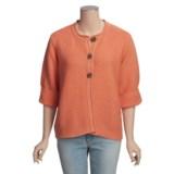 ALPS Swing Cardigan Sweater - Cotton, 3/4 Sleeve (For Women)