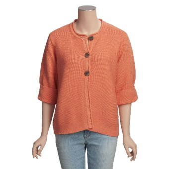 ALPS Swing Cardigan Sweater - Cotton, 3/4 Sleeve (For Women)