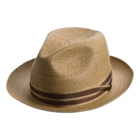 Steve Harvey Straw Fedora Hat - Grosgrain Band (For Men and Women)