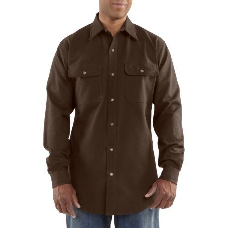 Carhartt Solid Flannel Work Shirt - Heavyweight, Long Sleeve (For Men)