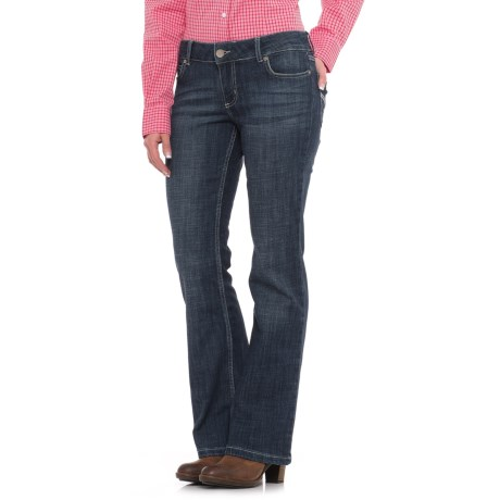 Wrangler Mae Low-Rise Jeans - Bootcut, Stretch Denim (For Women)