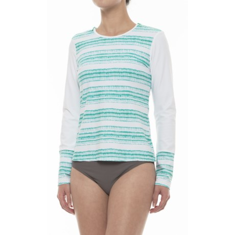 Cabana Life Shoulder-Zip Rash Guard - UPF 50+, Long Sleeve (For Women)