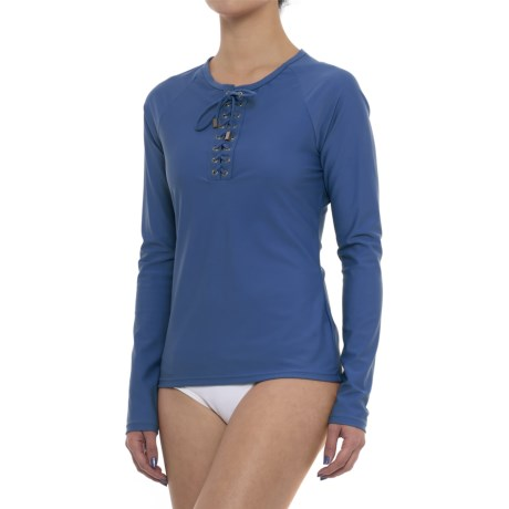 Cabana Life Front-Tie Rash Guard - UPF 50+, Long Sleeve (For Women)