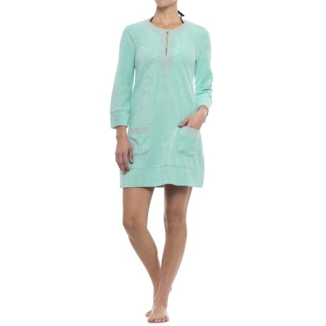 Cabana Life Embroidered Terry Swimsuit Cover-Up - UPF 50+, Long Sleeve (For Women)