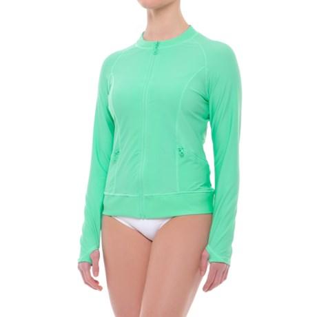 Cabana Life Zip-Front Rash Guard - UPF 50+, Long Sleeve (For Women)