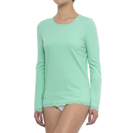 Cabana Life Scalloped Rash Guard - UPF 50+, Long Sleeve (For Women)