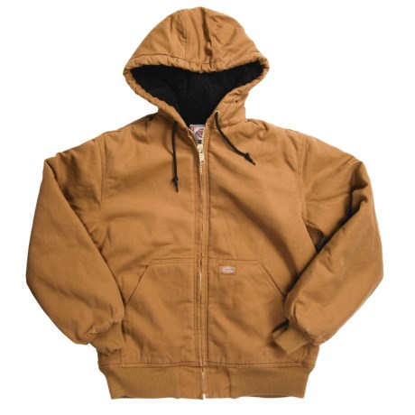 Dickies Sanded Duck Jacket - Insulated, Quilt lined, Hooded (For Men)