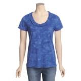 Nomadic Traders Cotton Ruffle Shirt - Short Sleeve (For Women)