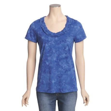 Nomadic Traders Cotton Ruffle Shirt - Short Sleeve (For Women)