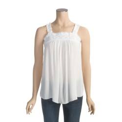 Fresco by Nomadic Traders Caprice Crochet-Trim Tank Top - Crinkle Rayon (For Women)