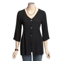 Fresco by Nomadic Traders Caprice Allyson Shirt Jacket - Crinkle Rayon, 3/4 Sleeve (For Women)