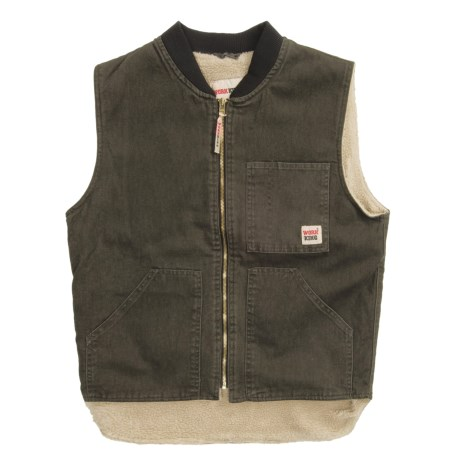 Work King Work Vest - Sherpa Lined (For Men)