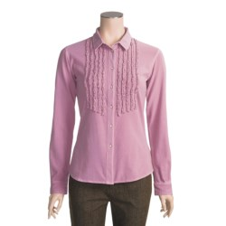 Ryan Michael Ruffled Knit Western Shirt - Long Sleeve (For Women)