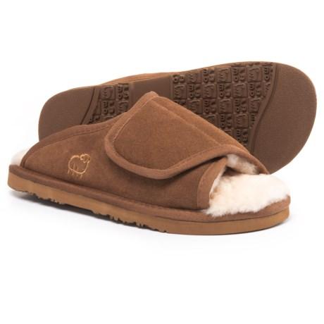 LAMO Footwear Open-Toe Wrap Bootie Slippers - Suede (For Women)