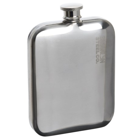 Brooklyn Steel Co. Stainless Steel Pocket Flask - 5 fl.oz., BPA-Free