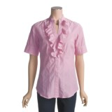 RU Cowgirl Preppy Shirt - Cotton, Short Sleeve (For Women)