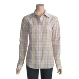 RU Cowgirl Plaid Western Shirt - Floral Embroidery, Long Sleeve (For Women)