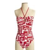 La Blanca by Rod Beattie Graphic Bandeau Swimsuit - 1-Piece (For Women)