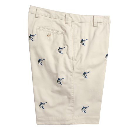 Berle Cotton Twill Shorts - Embroidered Catch (For Men)