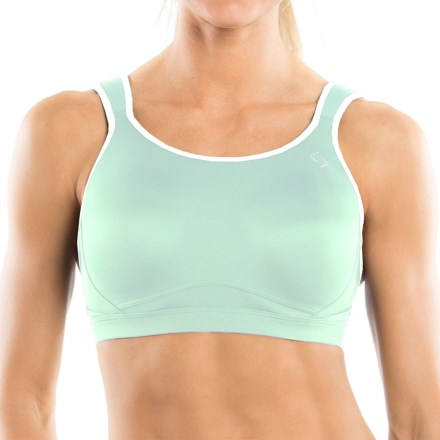 Moving Comfort Maia Sports Bra (For Women) in Surf/White - Closeouts