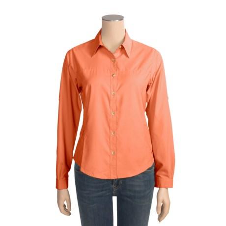 White Sierra Gobi Desert Shirt - UPF 30, Long Sleeve (For Women)