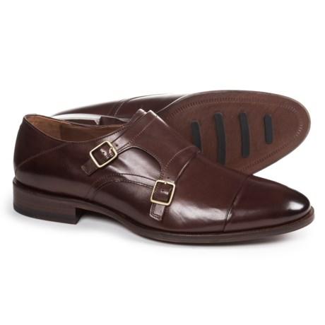 Johnston & Murphy Nolen Double Monk Cap-Toe Shoes - Leather (For Men)