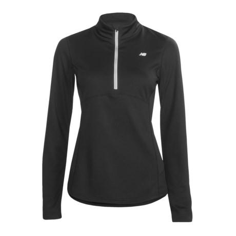 New Balance Running Pullover Shirt - Zip Neck, Long Sleeve (For Women)