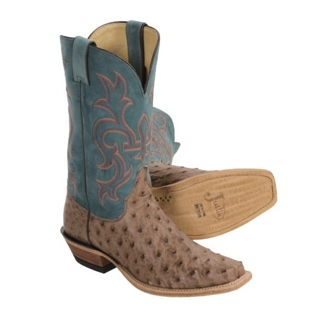 Justin Boots Bent Rail J125-Toe Cowboy Boots - Full-Quill Ostrich (For Women)