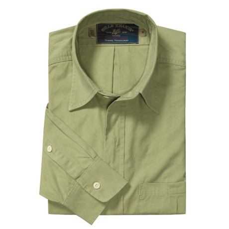 Bills Khakis Weathered Poplin Shirt - Long Sleeve (For Men)