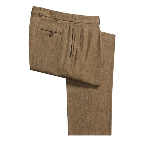 Bills Khakis M1P Herringbone Country Pants - Wool-Nylon, Forward Pleats, Relaxed Fit (For Men)