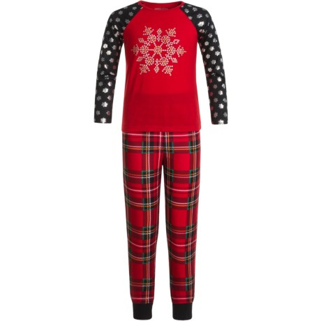 Komar Kids Snowflake Pajamas - Long Sleeve (For Kids)