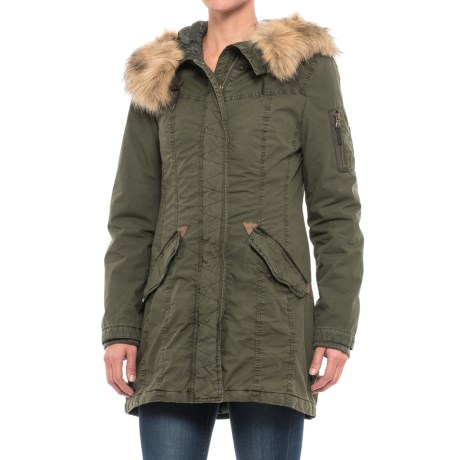 G.H. Bass & Co. Long Hooded Swing Coat - Insulated (For Women)