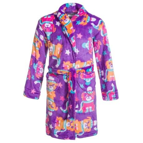 Peas & Carrots Komar Kids Winter Pup Robe - Long Sleeve (For Girls)