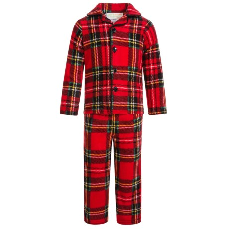 Peas & Carrots Holiday Plaid Pajamas - Long Sleeve (For Toddlers)