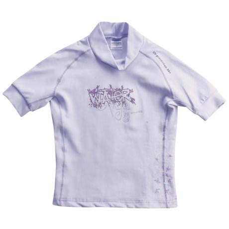 Camaro Water Angel Rash Guard - UPF 50+, Short Sleeve (For Girls)