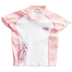 Camaro Rash Guard - UPF 50+, Short Sleeve (For Toddler Girls)