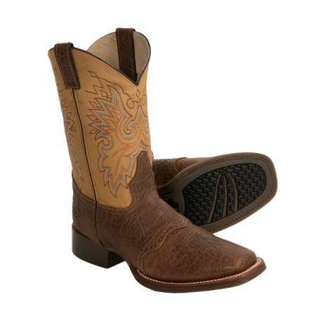 Double H Shoulder Stockman Boots - Square Toe (For Men)