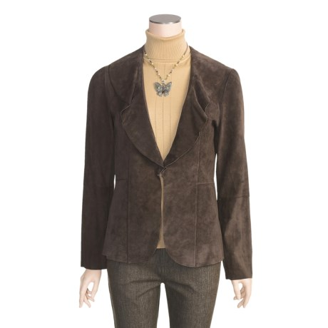 Stetson Lambskin Jacket - Ruffle Collar (For Women)