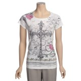 Roper Horse Burnout Sublimation Shirt - Short Sleeve (For Women)