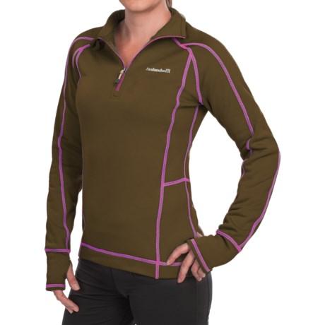 Avalanche Fleece Mogul Shirt - Zip Neck, Long Sleeve (For Women)